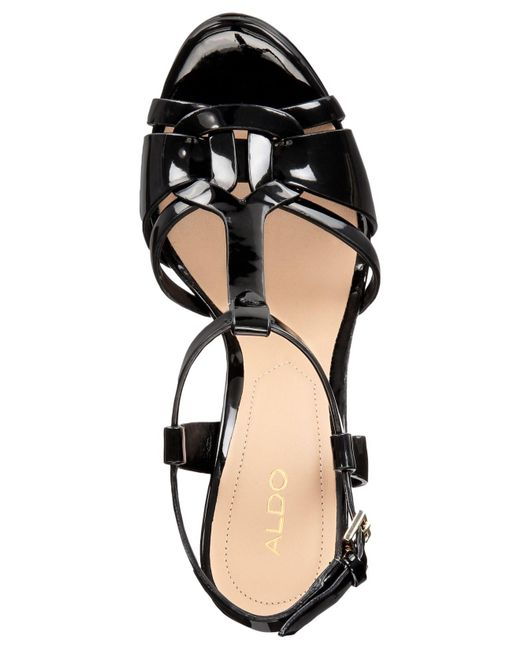 acf582070ed ... ALDO - Black Chelly Platform Dress Sandals - Lyst ...
