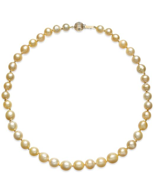 Macy's - White Cultured Freshwater Pearl Necklace (8-10mm) In 14k Gold - Lyst