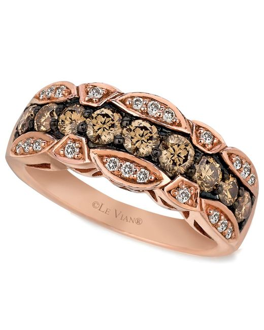 Le Vian - Brown Chocolate And White Diamond Band (1-1/8 Ct. T.w.) In 14k Rose Gold - Lyst