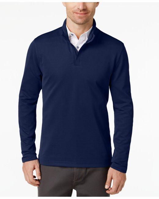 Alfani | Blue Men's Ottoman Quarter-zip Sweater for Men | Lyst