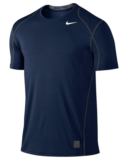 Nike   Blue Pro Cool Fitted Dri-fit Shirt for Men   Lyst