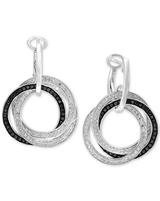Effy Collection - Metallic Diamond Interlocking Ring Hoop Earrings (7/8 Ct. T.w.) In 14k White Gold - Lyst