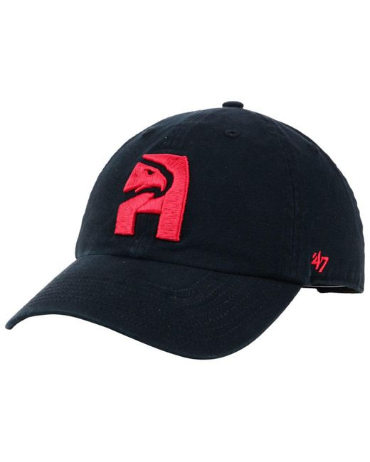 check out 25098 5dada 47 Brand - Red Atlanta Hawks Mash Up Clean Up Cap for Men - Lyst ...