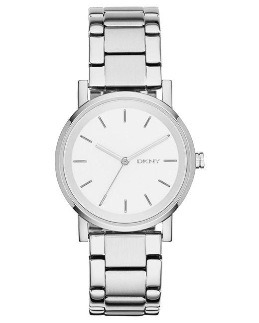 DKNY Metallic Soho Stainless Steel Bracelet Watch 34mm, Created For Macy's
