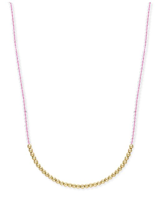 ABS By Allen Schwartz | Metallic Gold-tone Beaded Long Necklace | Lyst