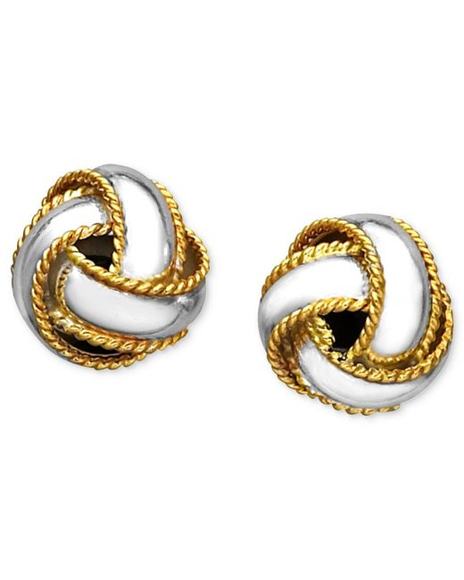 Giani Bernini | Metallic 24k Gold Over Sterling Silver Earrings, Love Knot Stud Earrings | Lyst