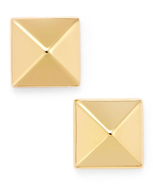 Macy's - Metallic Pyramid Stud Earrings In 14k Gold - Lyst
