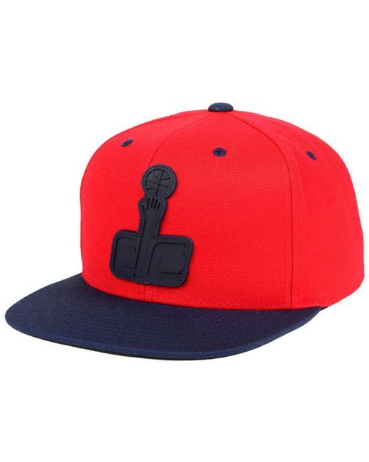 Mitchell & Ness - Red Washington Wizards Rubber Weld Snapback Cap for Men - Lyst