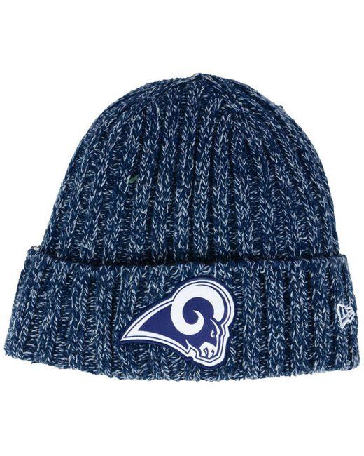 the latest 71f6a 0f4d4 KTZ - Blue Los Angeles Rams On Field Knit Hat - Lyst ...