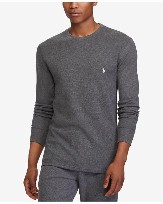 Polo Ralph Lauren - Gray Men's Lightweight Waffle-knit Pajama Shirt for Men - Lyst