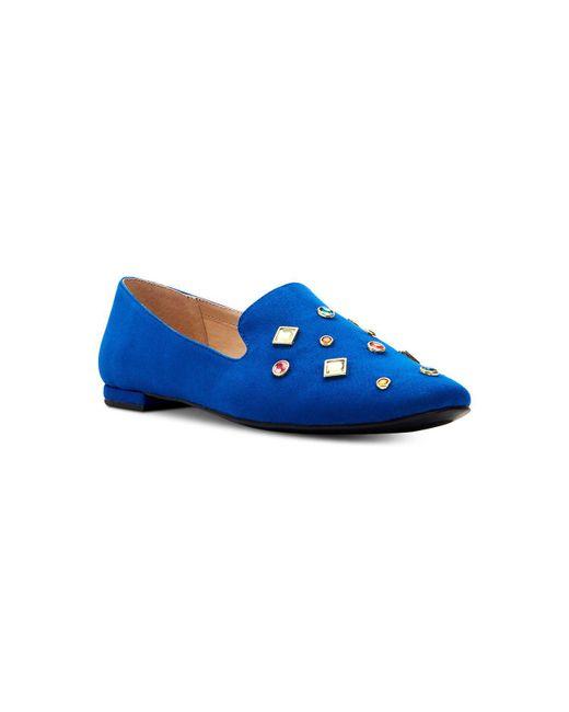 9e805cc5938 Women's Blue Turner Embellished Loafer Flats