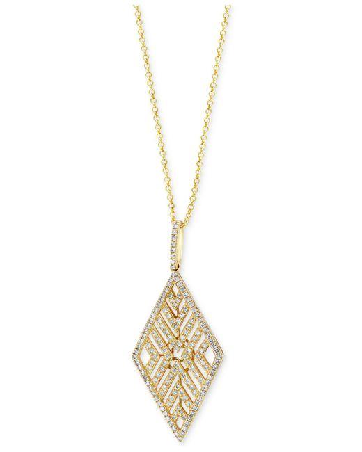 Effy Collection - Metallic Diamond Geometric Pendant Necklace (5/8 Ct. T.w.) In 14k Gold - Lyst