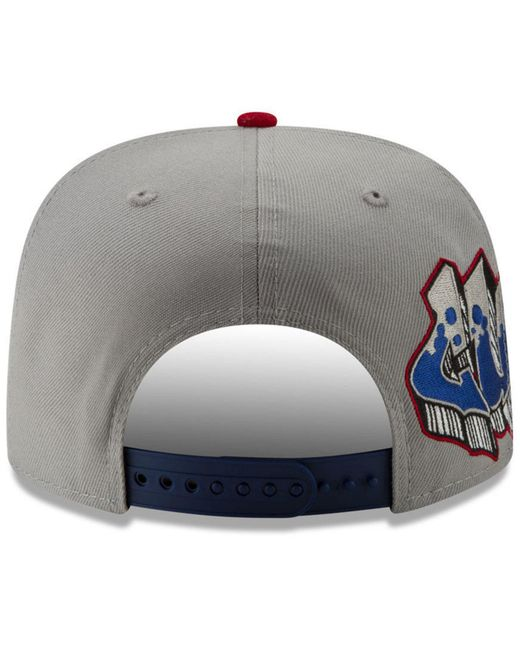 check out e0aa5 ad066 ... KTZ - Gray Chicago Cubs Side Sketch 9fifty Cap for Men - Lyst