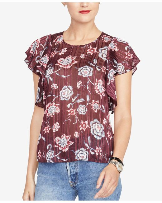 92b78a654b101 RACHEL Rachel Roy - Multicolor Flutter-sleeve Top