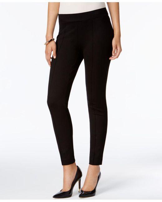 Kasper - Black Pull-on Straight-leg Pants - Lyst