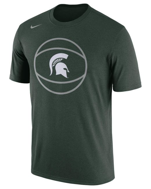Nike - Green Michigan State Spartans Legend Bball T-shirt for Men - Lyst