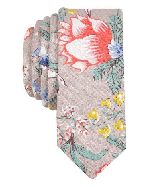 Original Penguin   Gray Men's Yarrow Floral Linen Skinny Tie for Men   Lyst