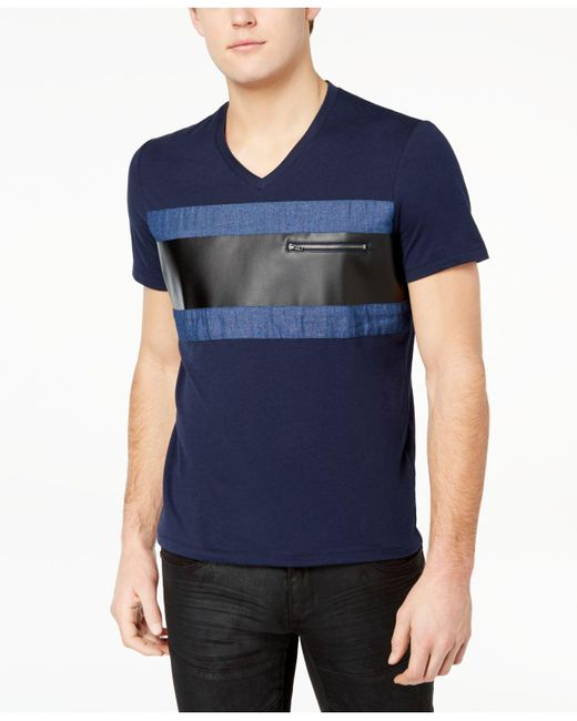 INC International Concepts - Blue Colorblocked T-shirt, Created For Macy's for Men - Lyst