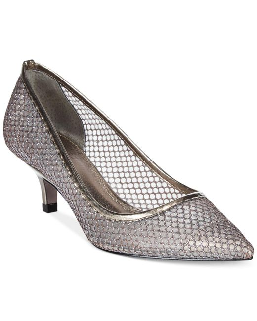 Adrianna Papell | Metallic Lois Evening Pumps | Lyst