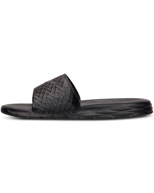 quality design b9c34 f2dee ... Nike - Benassi Solarsoft Black  Anthracite for Men - Lyst ...