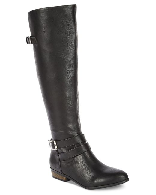 Material Girl | Black Carleigh Tall Riding Boots | Lyst