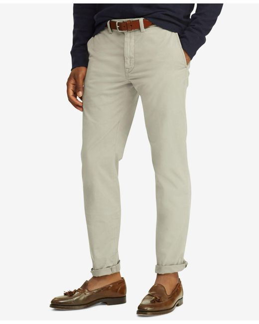 Polo Ralph Lauren - Gray Straight Fit Stretch Chino Pants for Men - Lyst