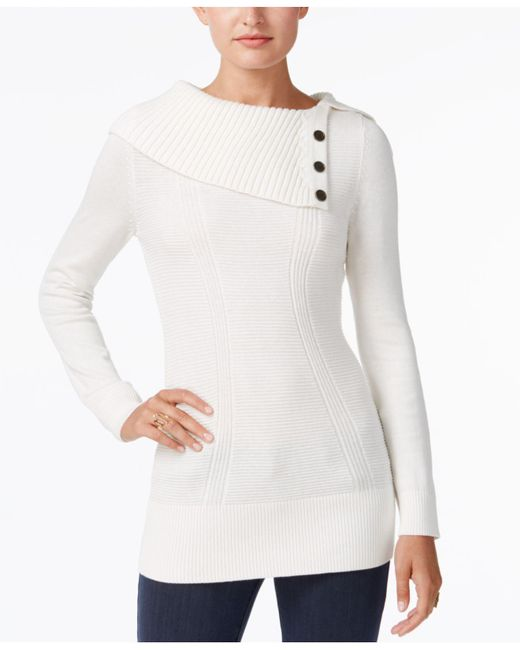 Style & Co. | White Envelope-neck Sweater, Created For Macy's | Lyst