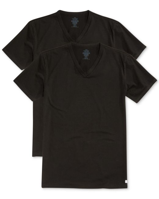 Calvin Klein | Black Classic 2 Pack V-neck, Big for Men | Lyst
