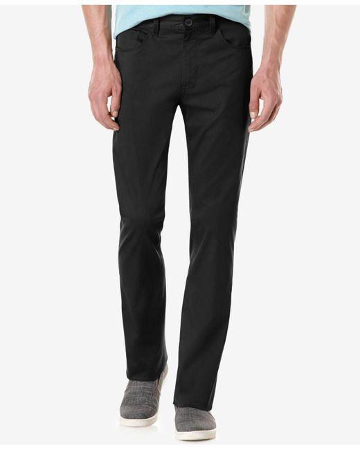 Perry Ellis | Black Slim-fit Solid Sateen Pants for Men | Lyst