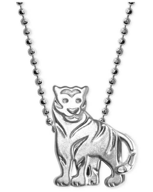 Alex Woo - Metallic Little Tiger Zodiac Pendant Necklace In Sterling Silver - Lyst