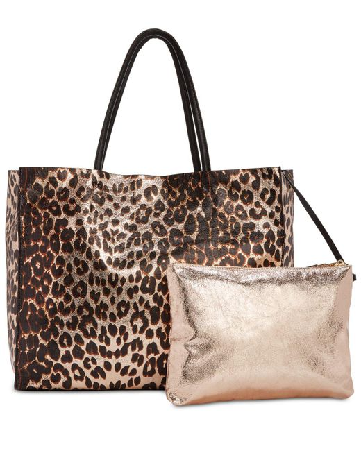 Betsey Johnson - Brown In A Flash Large Shopper Tote With Pouch - Lyst