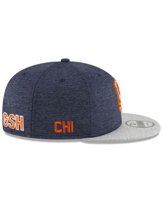 81f9e561cb2 ... KTZ - Blue Chicago Bears On Field Sideline Road 9fifty Snapback Cap for  Men - Lyst ...