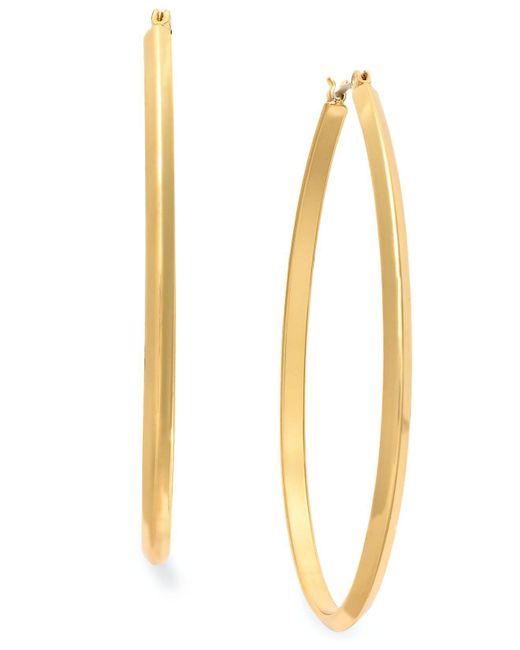 Charter Club | Metallic Gold-tone Pear Hoop Earrings | Lyst