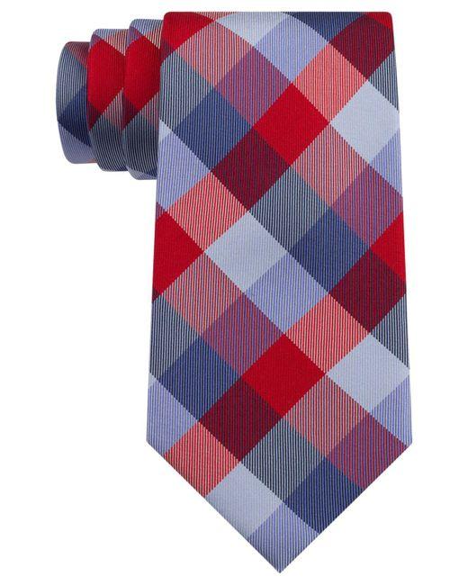 Tommy Hilfiger | Red Buffalo Tartan Tie for Men | Lyst