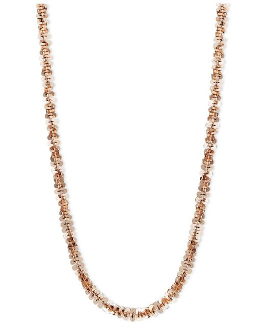 "Macy's - Multicolor 14k Rose Gold Necklace, 18"" Faceted Chain (1-1/2mm) - Lyst"