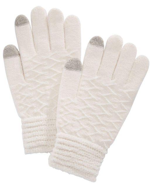 Steve Madden - White Zigzag Touchscreen Gloves - Lyst