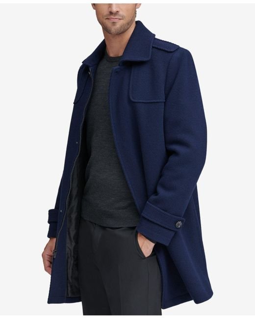 Marc New York - Blue Cavalry Twill Coat for Men - Lyst