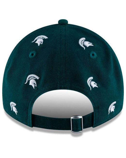 ... KTZ - Green Michigan State Spartans Logo Scatter Cap - Lyst d6bf622a008b
