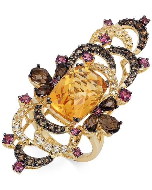 Le Vian   Multicolor Multi-stone Ring (9-1/4 Ct. T.w.) In 14k Gold   Lyst