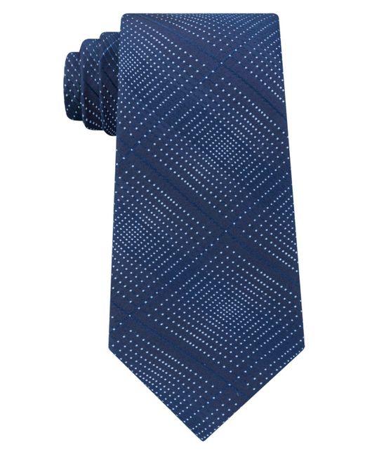 Kenneth Cole Reaction | Blue Men's Optical Texture Plaid Silk Tie for Men | Lyst