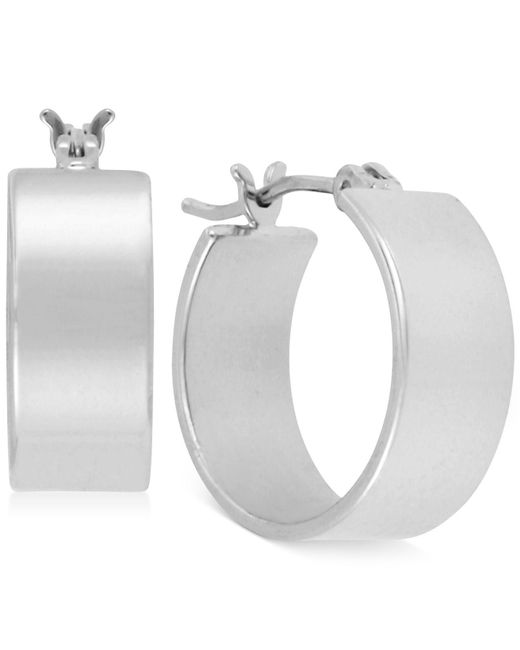 Kenneth Cole - Metallic Silver-tone Small Hoop Earrings - Lyst