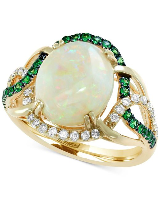 Effy Collection - Metallic Aurora By Effy® Multi-gemstone (2-3/4 Ct. T.w.) & Diamond (1/5 Ct. T.w.) Ring In 14k Gold - Lyst