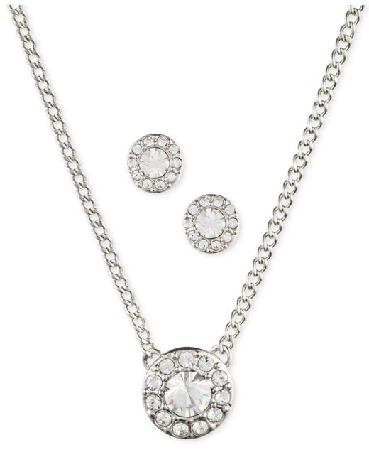 Givenchy - Metallic Silver-tone Necklace And Earring Set - Lyst