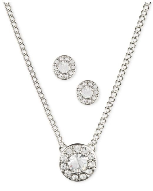 Givenchy | Metallic Silver-tone Necklace And Earring Set | Lyst