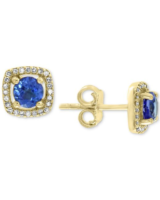 Effy Collection - Metallic Effy® Tanzanite (7/8 Ct. T.w.) & Diamond (1/8 Ct. T.w.) Stud Earrings In 14k Gold - Lyst