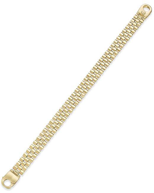 Macy's - Metallic Men's Link Bracelet In 14k Gold-plated Sterling Silver for Men - Lyst