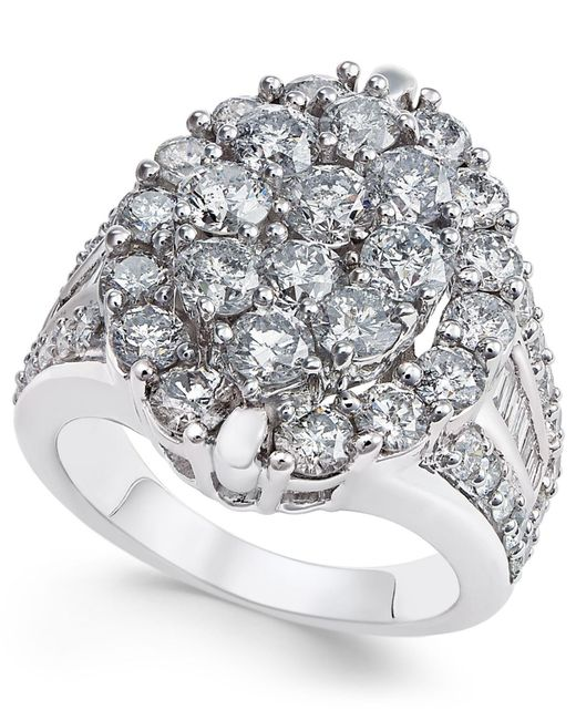Macy's - Metallic Diamond Ring (3 Ct. T.w.) In 14k Gold Or White Gold - Lyst