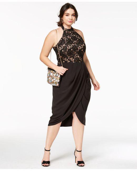 Lyst City Chic Trendy Plus Size Lady Portia Faux Wrap Halter Dress