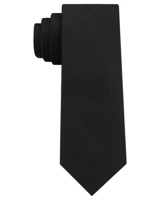 DKNY - Black Micro Dash Silk Slim Tie for Men - Lyst