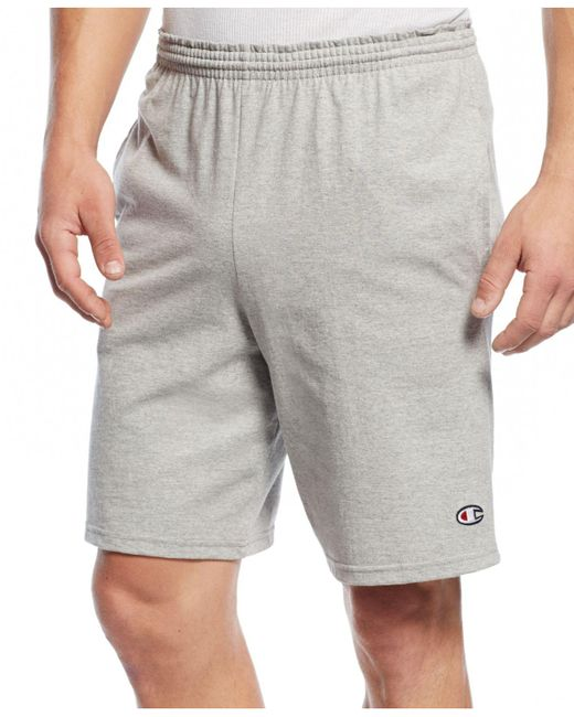 Champion - Gray Jersey Shorts for Men - Lyst